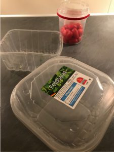 Plastik verpackunges aus dem Supermarkt